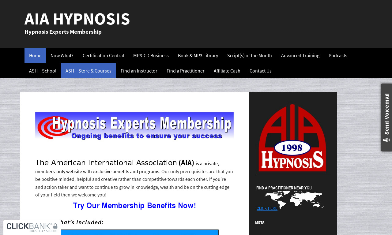 AIA Hypnosis Association Monthly Membership