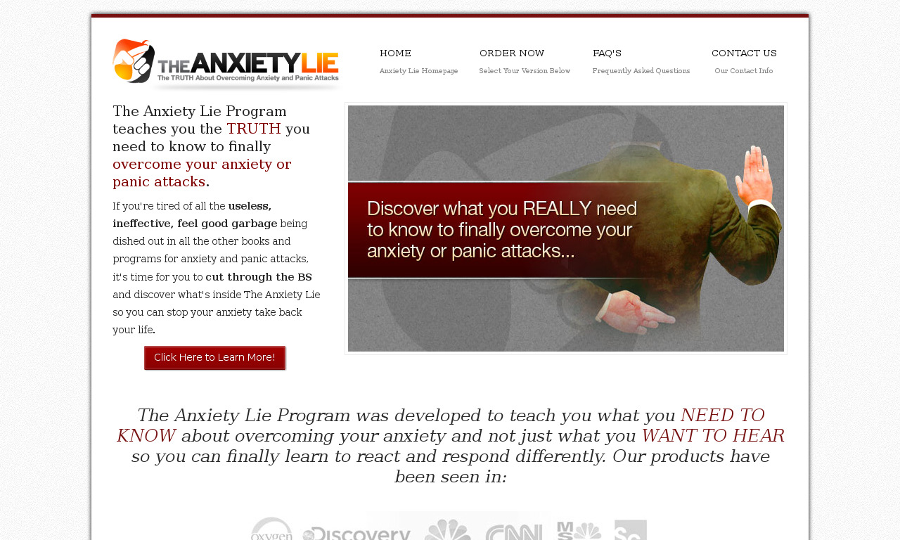 The Complete Anxiety Lie Program
