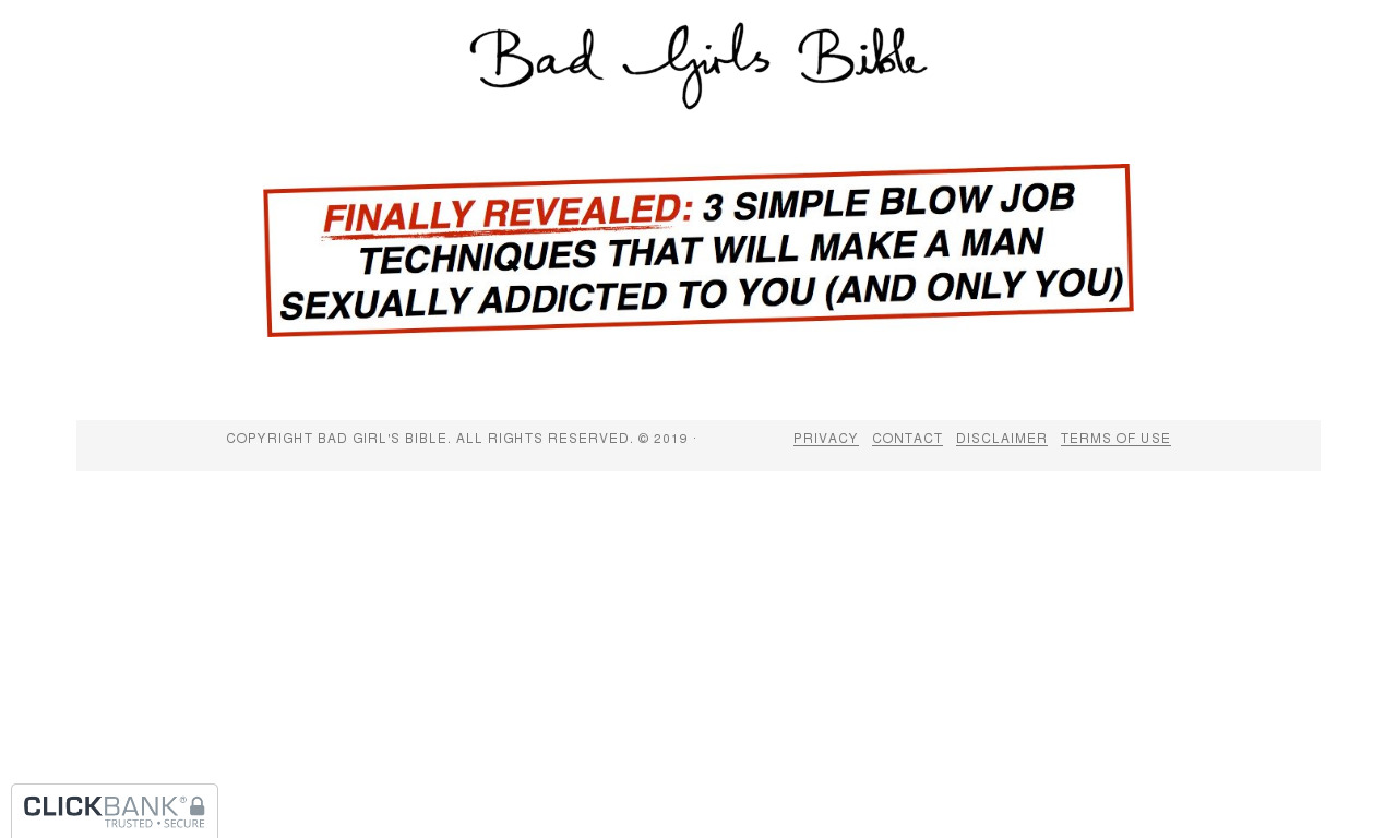 The Blow Job Bible & FREE Trial Of The Sex Secrets Audio Series