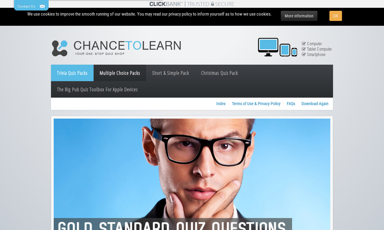 ChanceToLearn Quiz Pack Three