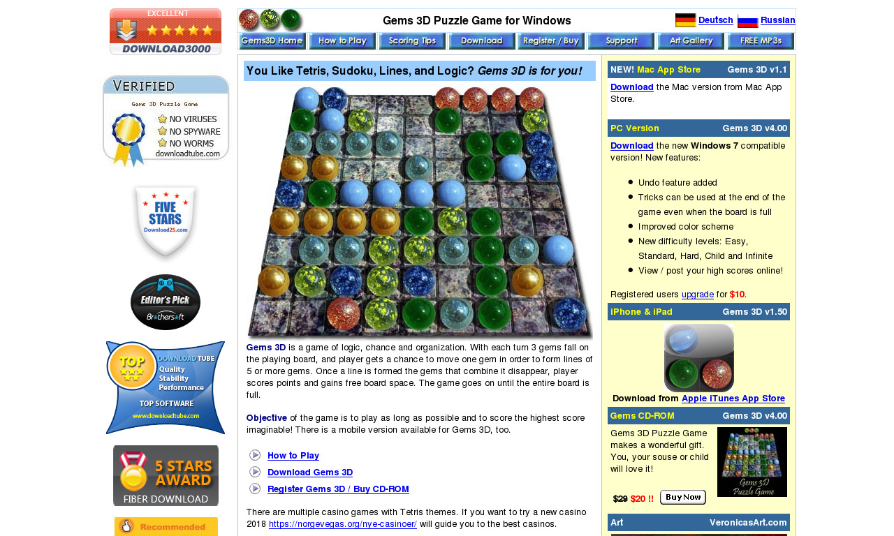 The a href='/external_link/308821'Gems 3d Puzzle Game/a Homepage