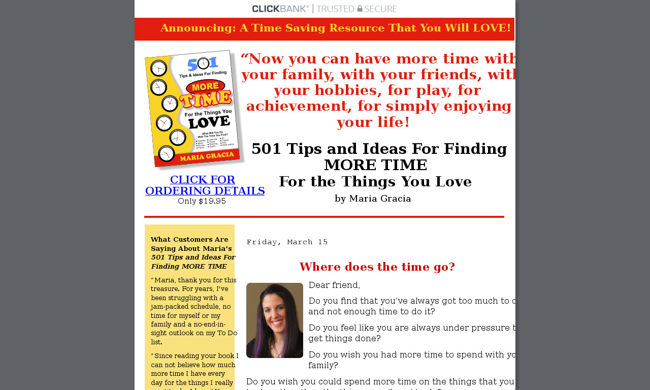 501 Tips & Ideas for Finding More Time for the Things You Love
