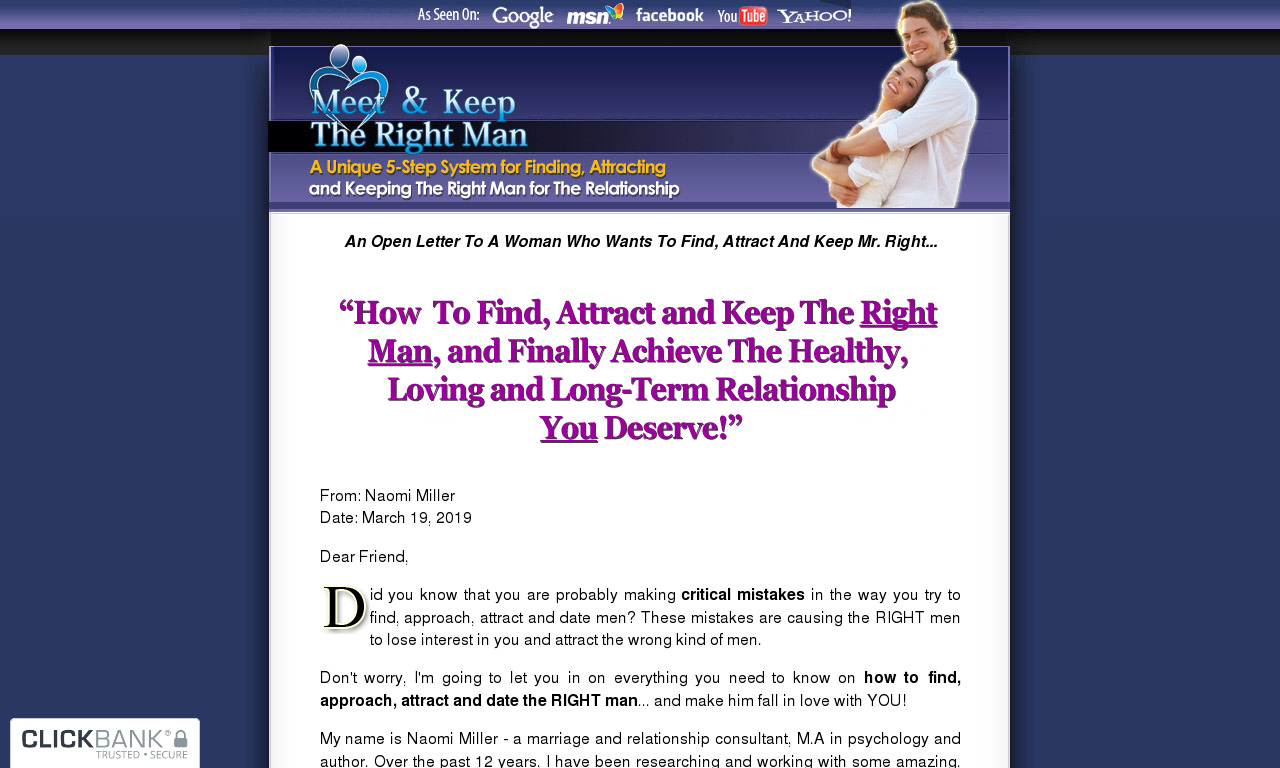 Meet & Keep The Right Man
