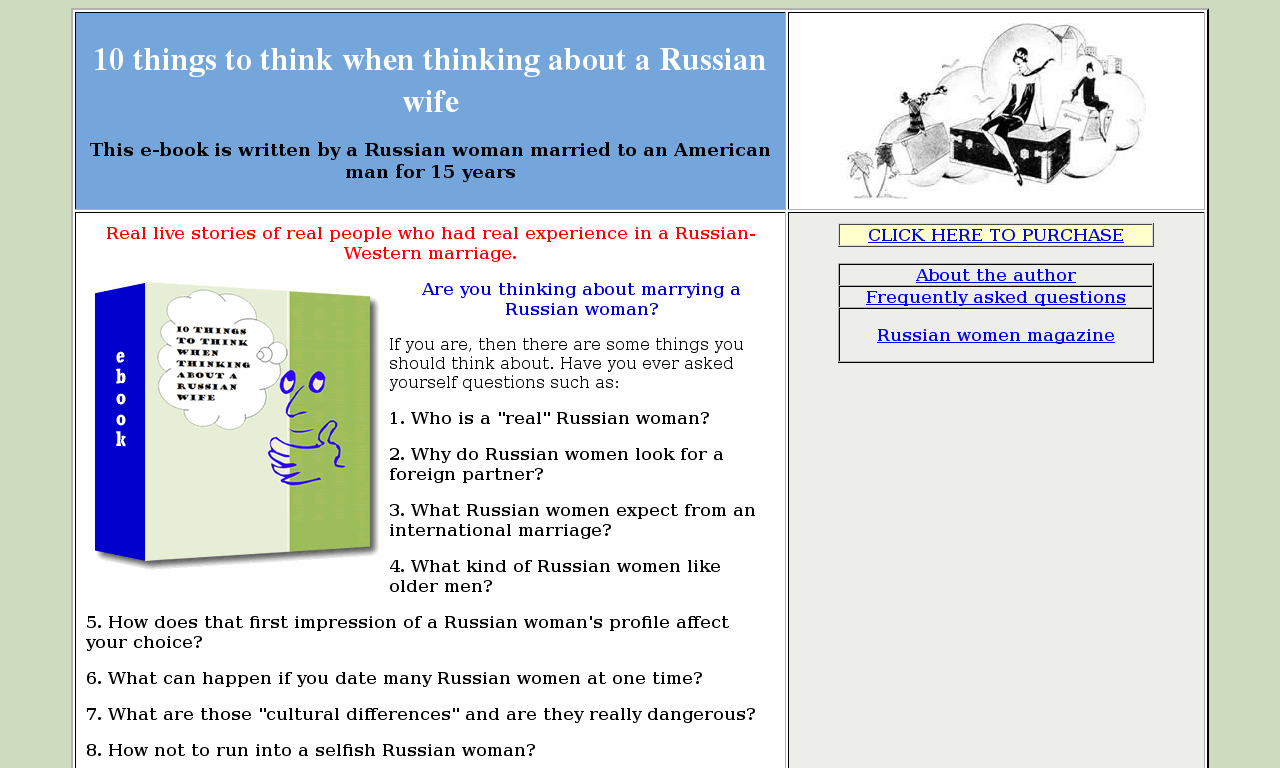 10 things to think when thinking about a Russian wife