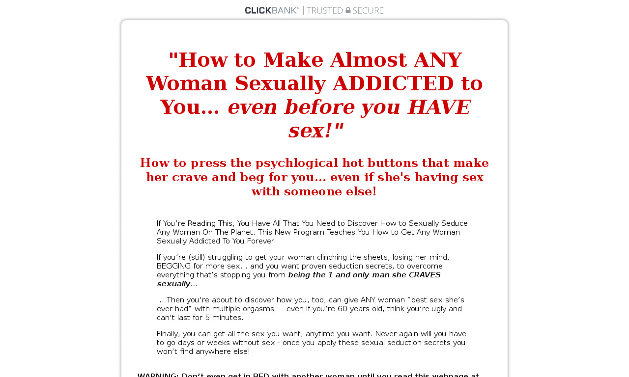 The Secrets of Making a Woman Sexually Addicted to You