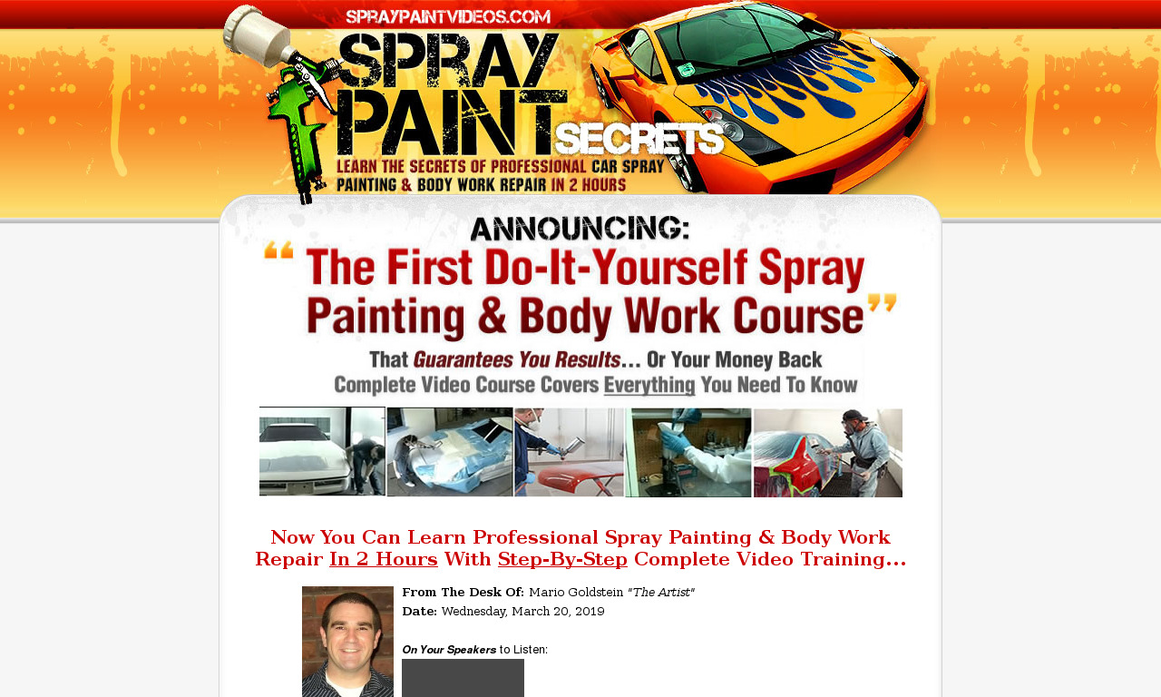 [Special Offer] SprayPaintSecrets Video Course + Bonuses