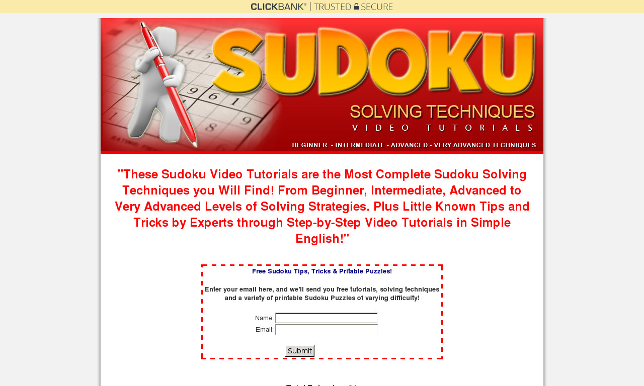 The a href='/external_link/214197'Sudoku Solving Techniques /aHomepage