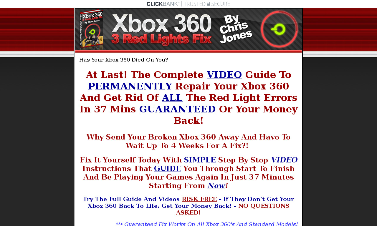 Xbox 360 Repair Guide + HD Videos