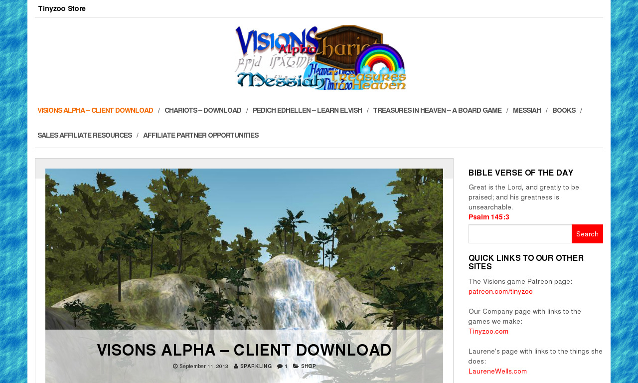 The Visions Alpha Homepage