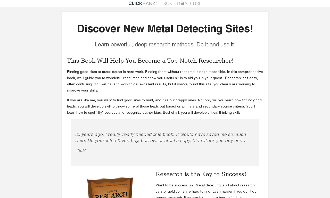 How to Research for Treasure Hunting and Metal Detecting